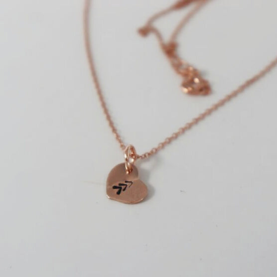 Rose Gold 3 Arrows heart