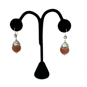 Italian Coral Earrings