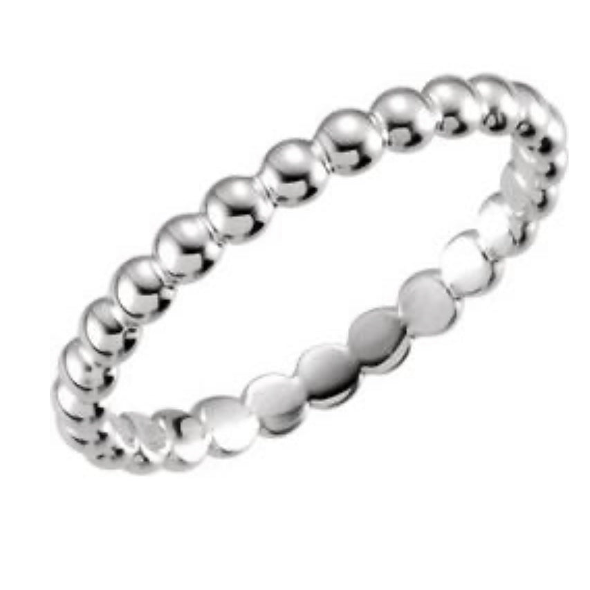 Beaded Stackable Ring 2.5mm