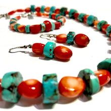 Coral & Turquoise Earrings