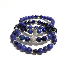 Bead Bracelet - Stretchable - Blue Tiger Eye - Agate - ART127