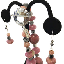 Rhodonite and Rutilated Quartz Necklace
