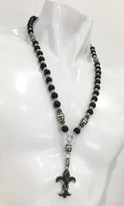 "Rosary Handmade - Handcrafted - Semiprecious Stone ""Royal Night""-ROS123"