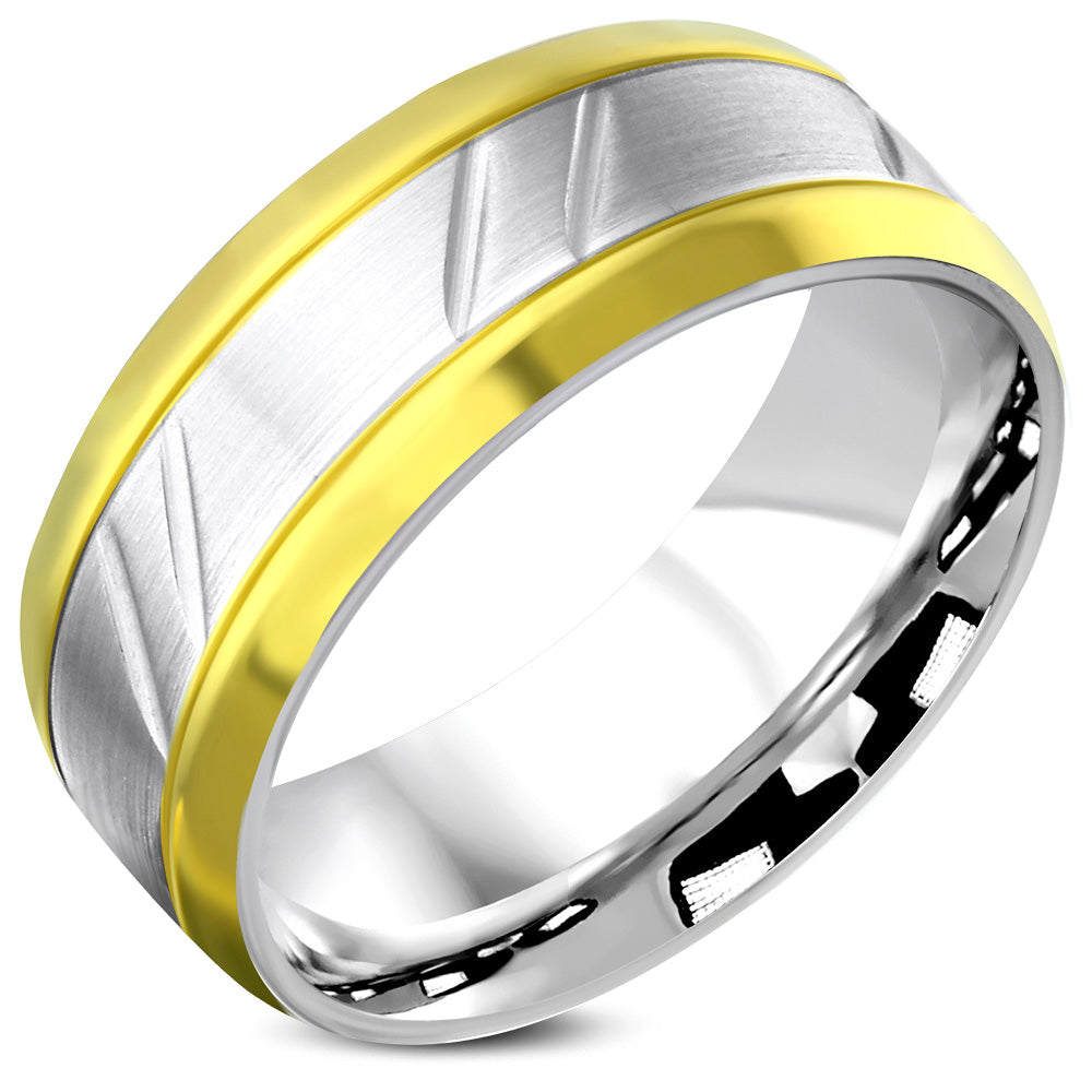 Ring Steel - 2-Tone matt finished - VRR391