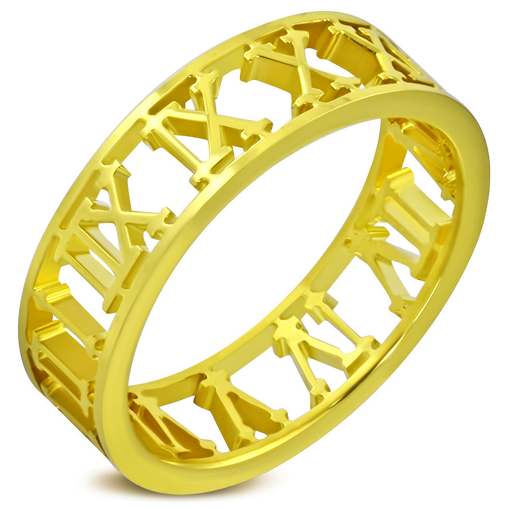 Ring Steel - Gold Plated - WRP130