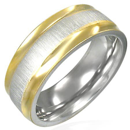 Gold and Silver Surgical Steel Ring
