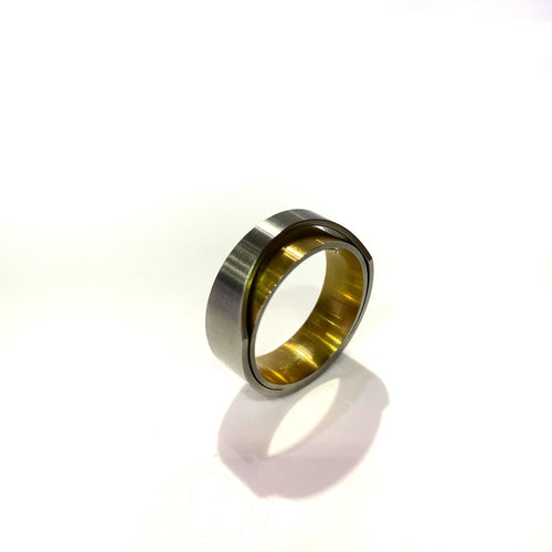 Ring - Steel & 18k Gold