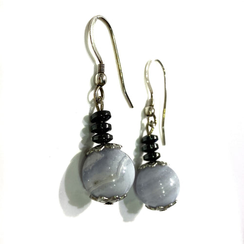 Earrings - Blue Lace Agate