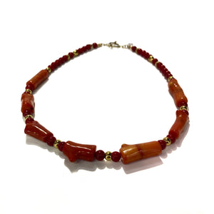Necklace - Red Coral 18inch long