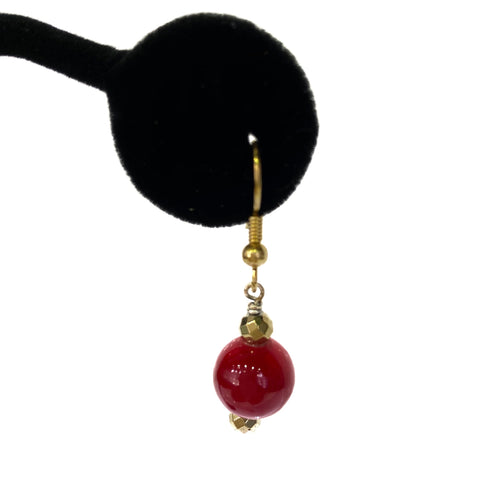 Earrings - Red Coral