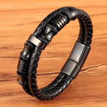 Leather Bracelets-Stainless Steel-BXG223