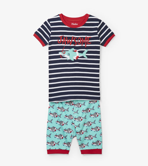 Hatley snorkeling sharks organic cotton short pjs - SmoochSuits