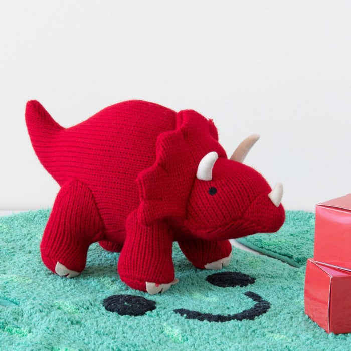 Best Years XLarge Knitted Triceratops Toy