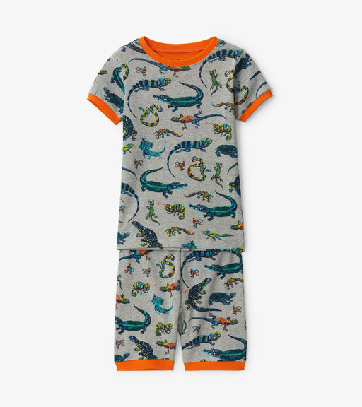 Hatley rambunctious reptiles organic cotton short pjs - SmoochSuits