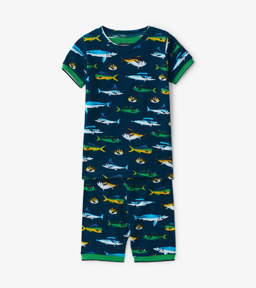 Hatley game fish organic cotton short pjs - SmoochSuits