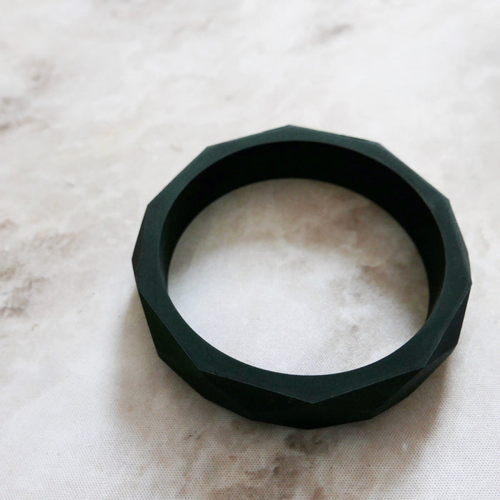 East London Baby Co Geometric Teething Bangle Black