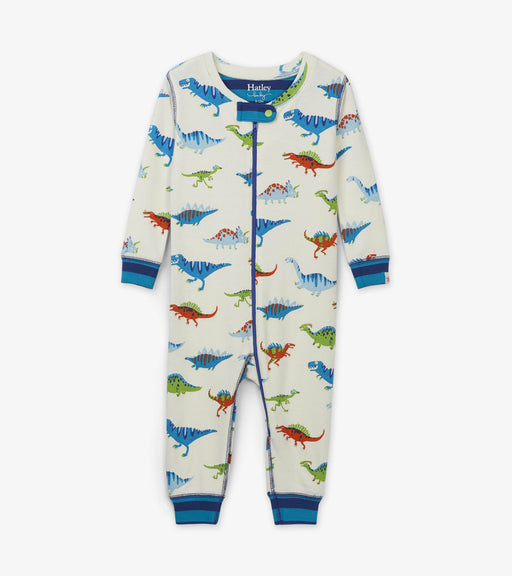 Hatley dino herd organic cotton coverall - SmoochSuits