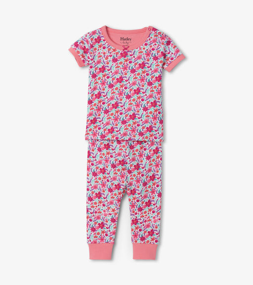 Hatley summer garden organic cotton baby short sleeve pjs - SmoochSuits