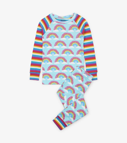 Hatley magical rainbows organic raglan cotton pjs - SmoochSuits