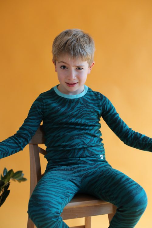 Jammie Doodles Green Skin Pjs - SmoochSuits