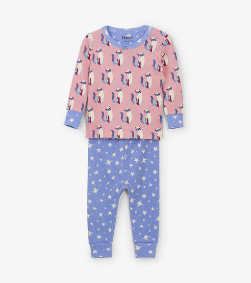 Hatley patchwork kitty organic cotton baby pjs - SmoochSuits
