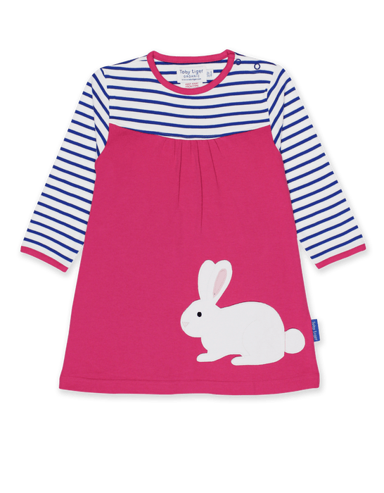 Toby Tiger Organic Breton Rabbit dress
