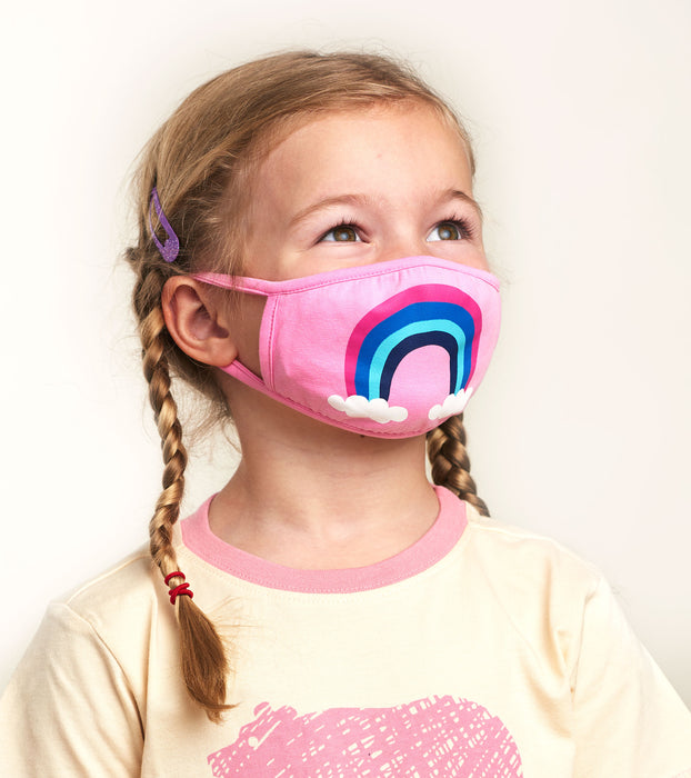 Little Blue House Reusable Kids Mask Rainbow