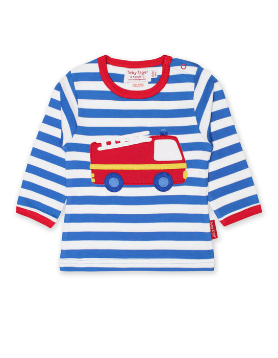 Toby Tiger Organic Fire Engine T-shirt