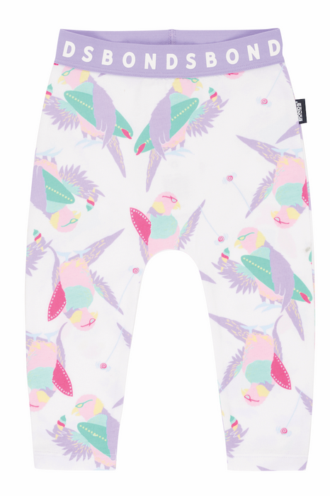 Bonds Surfing bird white leggings - SmoochSuits