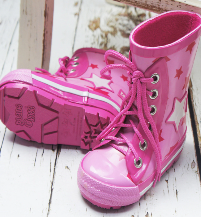 Blade & Rose pink star wellies - SmoochSuits