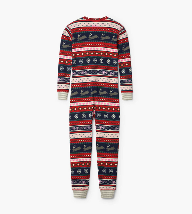 Hatley Fair Isle bunnies organic one piece