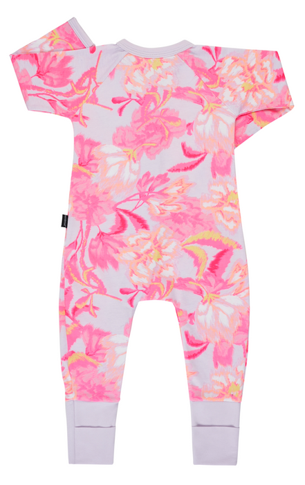 Bonds Blurred blooms pink Wondersuit