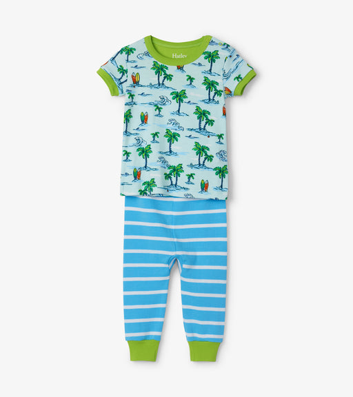 Hatley Hawaiian tropics organic cotton baby short sleeve pjs - SmoochSuits