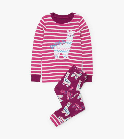 Hatley adorable llama organic cotton raglan pjs - SmoochSuits
