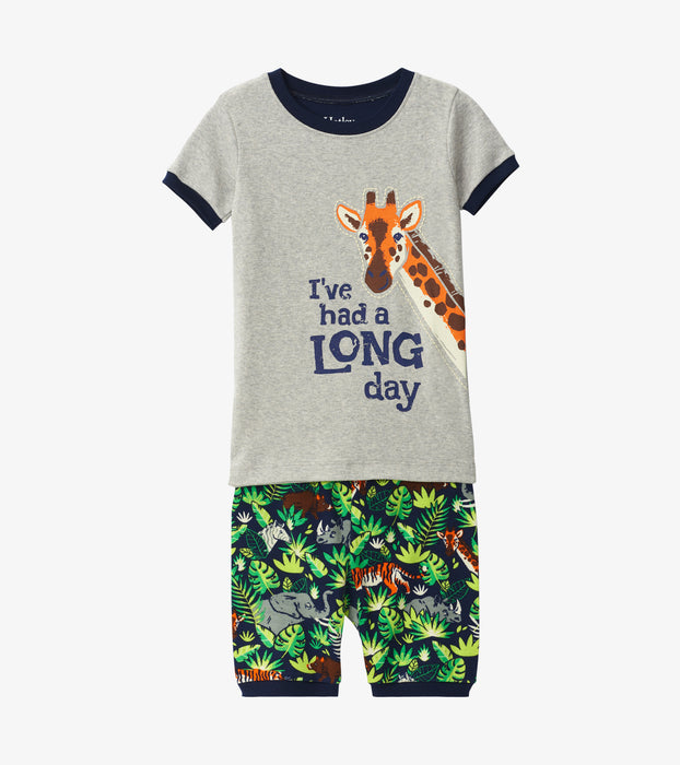 Hatley jungle safari organic cotton short pjs - SmoochSuits