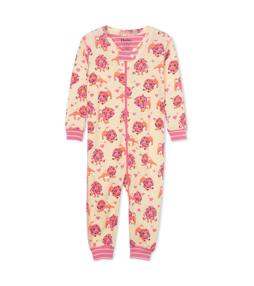 Hatley lovely lions organic coverall - SmoochSuits