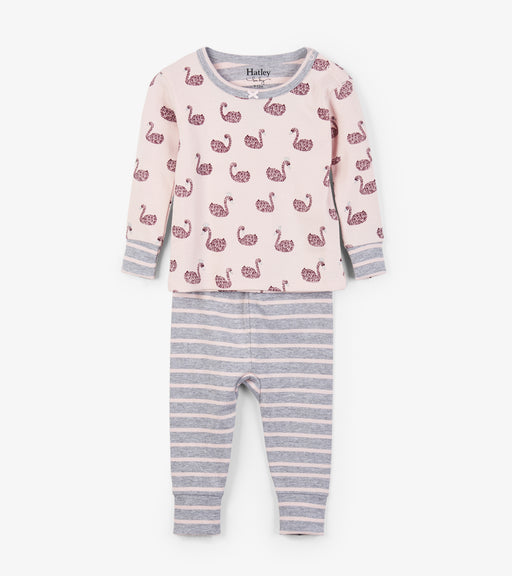 Hatley swan lake organic cotton baby pjs - SmoochSuits