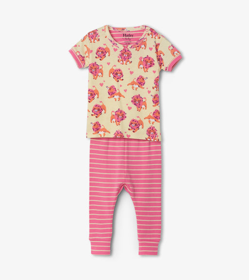 Hatley lovely lions organic cotton baby short sleeve pjs - SmoochSuits