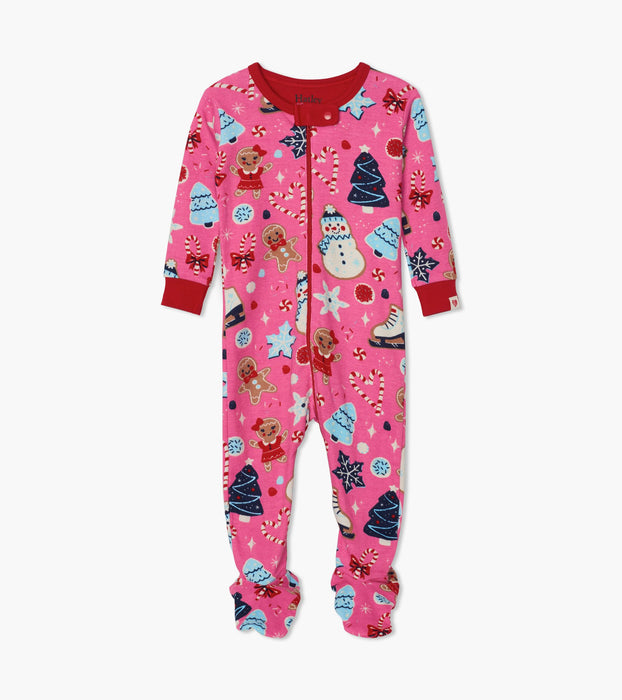 Hatley Holiday Sweets organic cotton footed coverall