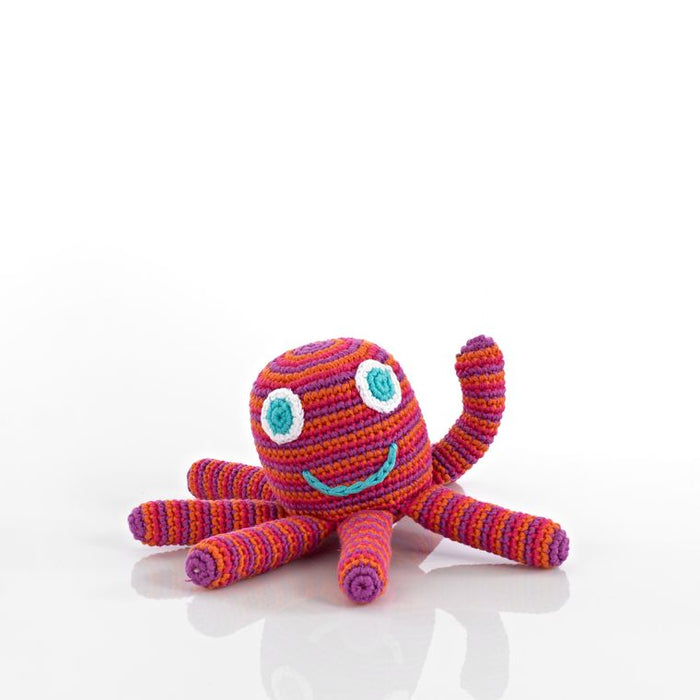 Best Years Fair Trade Crochet Octopus Rattle red