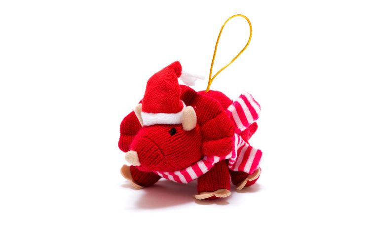 Best Years Knitted Triceratops Christmas Decoration