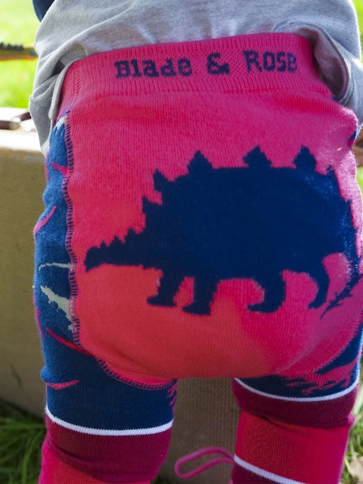 Blade & Rose Pink Stegosaurus Leggings - SmoochSuits