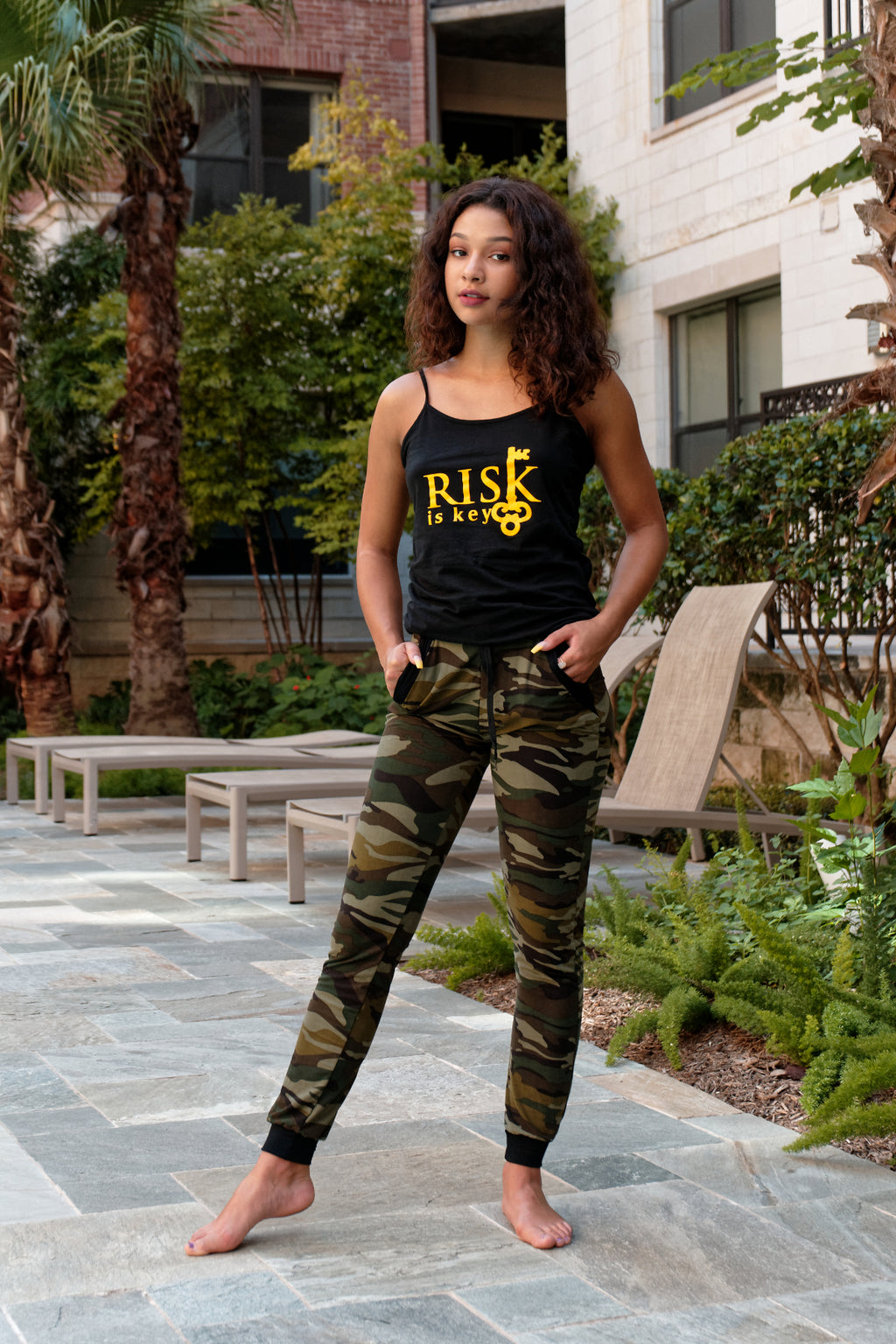 Womens Green Camo Pants