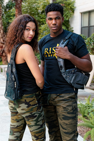 Riskē cross body bags