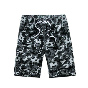 Black Camo Beach Shorts