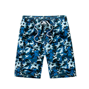 Blue Camo Beach Shorts