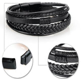 Genuine Leather Multi-layer Braided Rope Bracelets