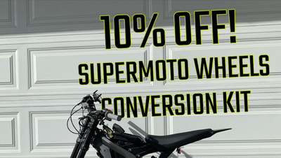 10% OFF Sur-Ron LBX Supermoto Wheels Conversion Kit