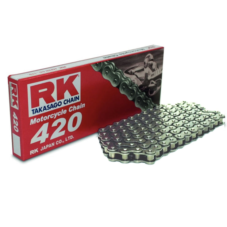 Motorcycle Chain RK Heavy Duty Steel 420 SB 106 for Standard Sur-Ron Sprocket Set Up