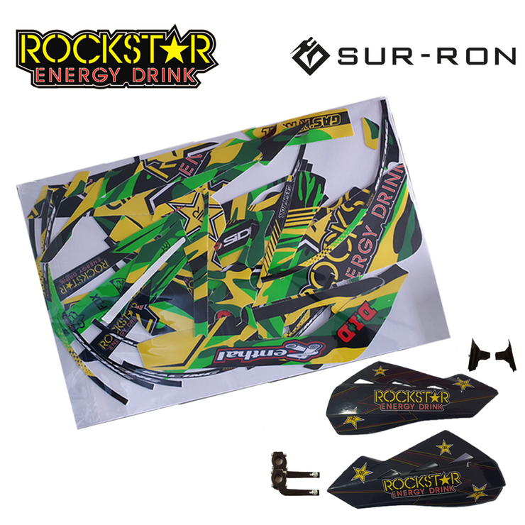 Sur-Ron Rockstar Bundle - Decal Kit & Polisport Handguards